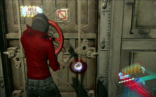 Run forwards until you reach a hatch with the red handwheel - Chapter 4 - Escaping The Mutant - Ada's campaign - Resident Evil 6 - Game Guide and Walkthrough