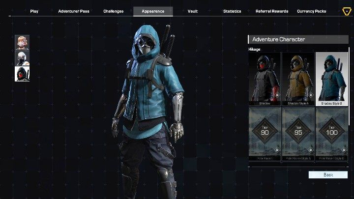 Hikage has 7 outfits - Adventure characters in Ring of Elysium - Characters - Ring of Elysium Guide and Tips
