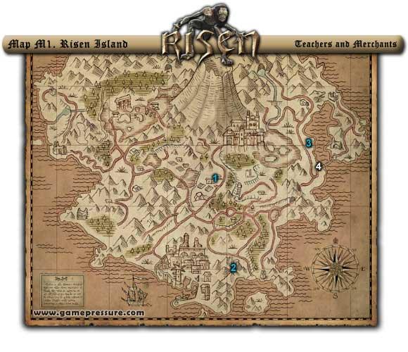 World Atlas - [Map M1] Risen Island - Risen Game Guide & Walkthrough