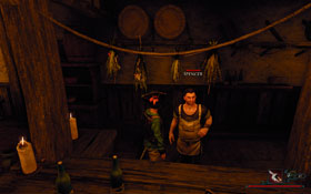 Spencer [#2] - the innkeeper of the port city's tavern, found behind the bar - Antigua - Trainers - Risen 2: Dark Waters - Game Guide and Walkthrough