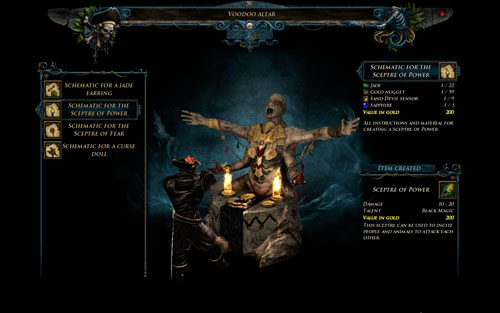 Create Sceptre - Voodoo - Hero - Special Skills - Risen 2: Dark Waters - Game Guide and Walkthrough