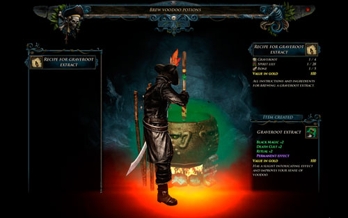 Brew Potion - Voodoo - Hero - Special Skills - Risen 2: Dark Waters - Game Guide and Walkthrough