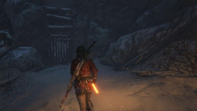Leave this place and backtrack to the very end of the passage - Find a way to defeat the bear | Siberian Wilderness - Best Laid Plans - Siberian Wilderness - Best Laid Plans - Rise of the Tomb Raider Game Guide & Walkthrough