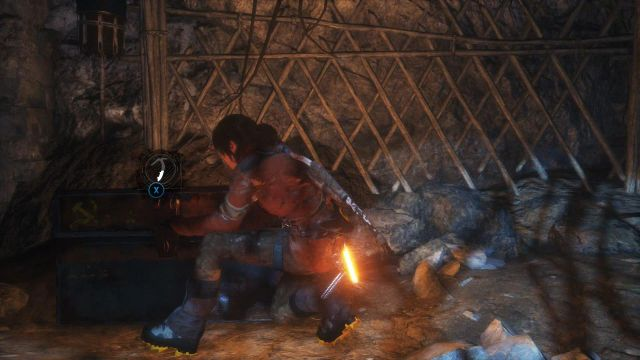 Search the cave to find some useful resources here - Explore the cave to find an exit | Siberian Wilderness - Best Laid Plans - Siberian Wilderness - Best Laid Plans - Rise of the Tomb Raider Game Guide & Walkthrough