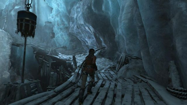 Get around the cave and, on the right, you will find a passage into the next part of the underground complex - Follow the Mongolian path and search for the signs of the Lost City | Siberian Wilderness - Best Laid Plans - Siberian Wilderness - Best Laid Plans - Rise of the Tomb Raider Game Guide & Walkthrough