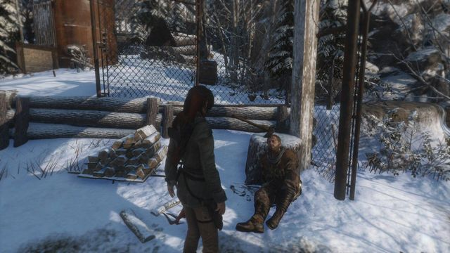 Right after that, you encounter a wounded remnant, who offers a mission to clear a nearby cave of wolves, thanks to which locals can hide there - Reach the copper mill | Alone Again - Alone Again - Rise of the Tomb Raider Game Guide & Walkthrough
