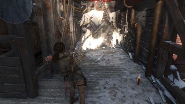 Fight your path ahead with Molotovs and be prepared for one more, tougher this time, fight with opponents - Regroup with Jacob | Alone Again - Alone Again - Rise of the Tomb Raider Game Guide & Walkthrough