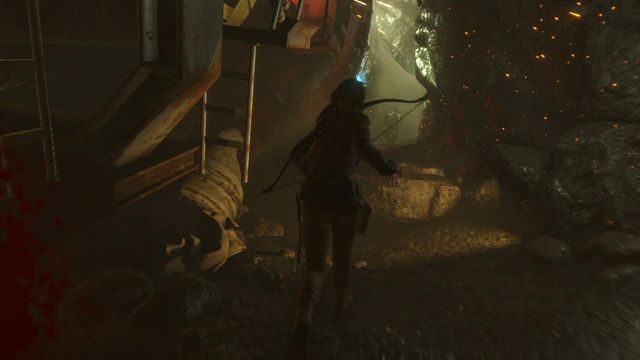 When chaos around starts and boulders start falling from everywhere, do not look back - sprint through the corridor and pass by the blocked passages - Find a way through the mountain | Shortcut - Shortcut - Rise of the Tomb Raider Game Guide & Walkthrough