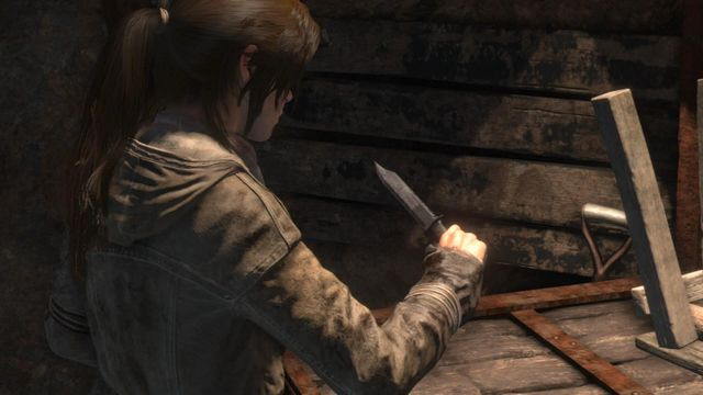 Lara will find a knife that you will be using for both cutting ropes and elimination of unaware enemies - Find a way through the mountain | Shortcut - Shortcut - Rise of the Tomb Raider Game Guide & Walkthrough