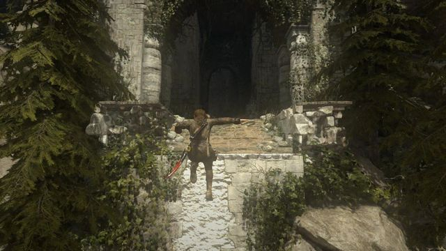 Defeating the mercenary with flame thrower ends the battle in the village - Follow the path up to the tower | Prepare for Battle - Prepare for Battle - Rise of the Tomb Raider Game Guide & Walkthrough