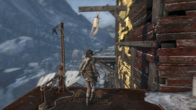 and swing over to the other side of the mill, on the rope - Climb the copper mill to reach the mine entrance | Alone Again - Alone Again - Rise of the Tomb Raider Game Guide & Walkthrough