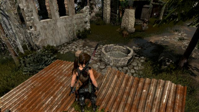 Then, approach the door opposite the well - For My Next Trick... | Achievements - Achievements - Rise of the Tomb Raider Game Guide & Walkthrough