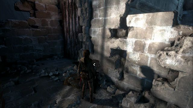 From the big hall before the cannon aimed at the gate, climb up the ladder, where you find a chest and the cache at the wall on the right - Survival Caches | Abandoned Mine - Abandoned Mine - Rise of the Tomb Raider Game Guide & Walkthrough