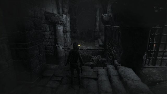 After the fight in this location, return to the big chamber, where you find an opened descent into the catacombs - Documents | The Acropolis - The Acropolis - Rise of the Tomb Raider Game Guide & Walkthrough