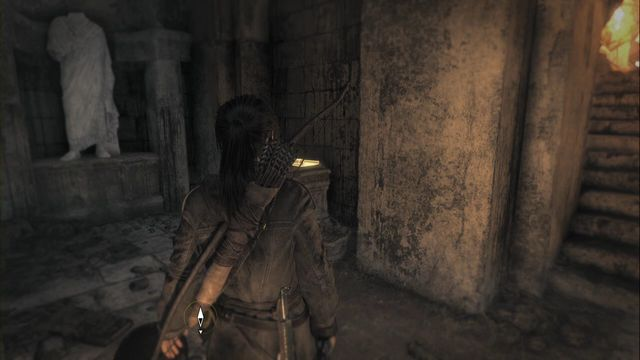 Right after you climb down the stairs, the recess to the right (after you destroy the pots with flammable liquid) - Documents | Flooded Archives - Flooded Archives - Rise of the Tomb Raider Game Guide & Walkthrough