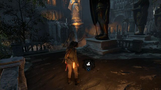 From camp Greek Fire storage climb up the stairs, along the row of shrines - Survival Caches | Flooded Archives - Flooded Archives - Rise of the Tomb Raider Game Guide & Walkthrough