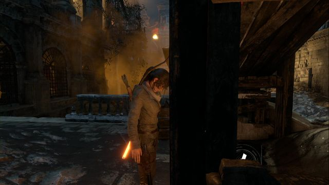 Under the collapsed planks, near the second Greek Fire container, which you need to find during the main storyline - Survival Caches | Flooded Archives - Flooded Archives - Rise of the Tomb Raider Game Guide & Walkthrough