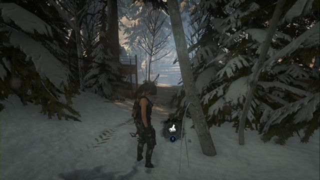 A it past the tree, which is opened the next time you are here (it is also possible to reach it from the direction of the other side of the forest) - Survival Caches | Research Base - Research Base - Rise of the Tomb Raider Game Guide & Walkthrough