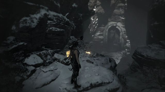 Right after you enter from the Planetarium, on the rock to the left - Relics and Documents | Path of the Deathless - Path of the Deathless - Rise of the Tomb Raider Game Guide & Walkthrough