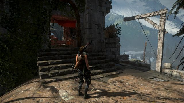 A bit ahead, walk into the ruins, where you can jump off the platform onto the tree branch, and then towards the destroyed dome - Quiet Time | Achievements - Achievements - Rise of the Tomb Raider Game Guide & Walkthrough