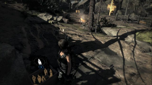 Go to Ruins Encampment base camp in Geothermal Valley or to any other location, where you find a crate with bottles - you can remove bottles from such crates as much as you want, which makes it easier to try for the achievement over and over again - Trick Shot | Achievements - Achievements - Rise of the Tomb Raider Game Guide & Walkthrough