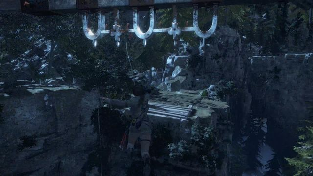 Thanks to the rope that you have obtained, you will now be able to jump over chasms - Find a safe path back to the Remnant village | Back to the Forest - Back to the Forest - Rise of the Tomb Raider Game Guide & Walkthrough