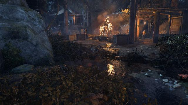 Walk around the village, while hiding in the bushes - Scale the Cathedral to find the entrance | Silent Night - Silent Night - Rise of the Tomb Raider Game Guide & Walkthrough