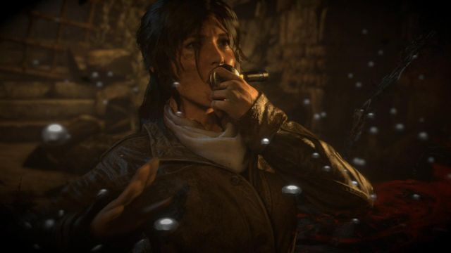 Soon, you will get an rebreather - Find a way out of the archives with the Atlas | Dark Waters - Dark Waters - Rise of the Tomb Raider Game Guide & Walkthrough