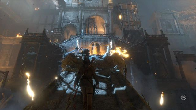 You will get under fire from the Deathless archers - Escape to safety | Escape the Archive - Escape the Archive - Rise of the Tomb Raider Game Guide & Walkthrough