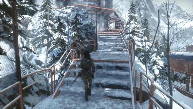 As soon as you eliminate all of the opponent, enter the meteorological station - Enter the Meteorological Station | Tracking Down Trinity - Tracking Down Trinity - Rise of the Tomb Raider Game Guide & Walkthrough