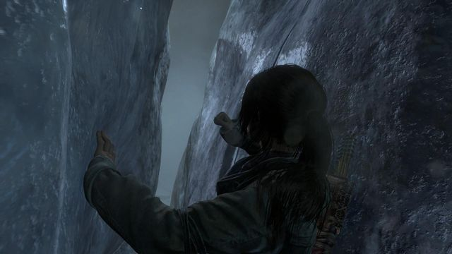 When Lara drops into the rift, try to go ahead and come out into the open - Find a way into the heart of Kitezh | Through the Glacier - Through the Glacier - Rise of the Tomb Raider Game Guide & Walkthrough