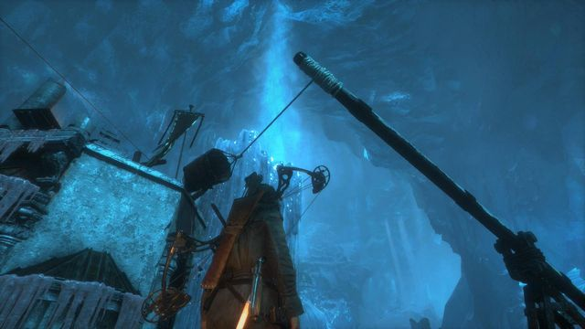 Shoot the arrow at the tip of the balance beam - Go to the other trebuchet | Gate Crasher - Gate Crasher - Rise of the Tomb Raider Game Guide & Walkthrough