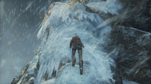 Walk towards the ice wall and press X button to stick the axe into the ice - Get to the top of the mountain | Siberian Wilderness - Passageway - Siberian Wilderness - Passageway - Rise of the Tomb Raider Game Guide & Walkthrough