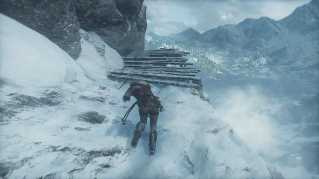 Once the avalanche will start, run straight ahead, using the A button to jump from one wooden platform to another platform - Get to the top of the mountain | Siberian Wilderness - Passageway - Siberian Wilderness - Passageway - Rise of the Tomb Raider Game Guide & Walkthrough