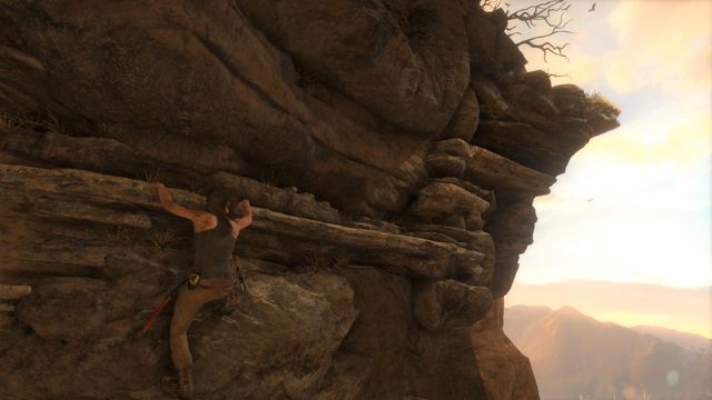 Jump on the wall, Lara will hang on the ledge - Find the ruins among the cliffs | Syria - Lost tomb - Syria - Lost tomb - Rise of the Tomb Raider Game Guide & Walkthrough