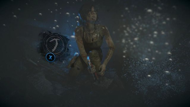 When Lara will start drowning, immediately start quickly pressing the X button on the pad - Search the tombs corridors | Syria - Lost tomb - Syria - Lost tomb - Rise of the Tomb Raider Game Guide & Walkthrough