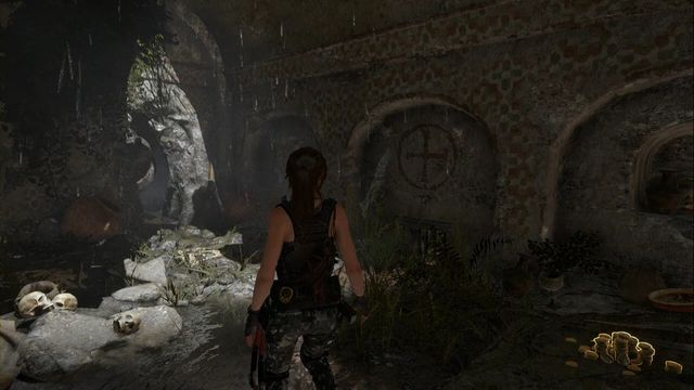 Squeeze between the rocks. - Tomb - House of the Afflicted [6/9] | Geothermal Valley - Geothermal Valley - Rise of the Tomb Raider Game Guide & Walkthrough