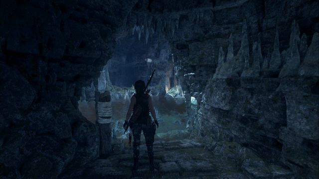 Attach the rope at the other side. - Tomb - Catacombs of Sacred Waters [8/9] | Geothermal Valley - Geothermal Valley - Rise of the Tomb Raider Game Guide & Walkthrough