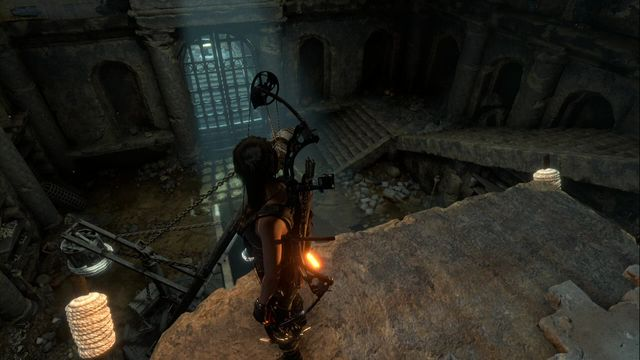 Levers that release the gas are on both sides of the ledge. - Tomb - Chamber of Exorcism [9/9] | Lost City - Lost City - Rise of the Tomb Raider Game Guide & Walkthrough