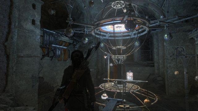 Soon, you will reach the planetarium - Use the planetarium to open the entrance to Kitezh | Path of the Deathless - Path of the Deathless - Rise of the Tomb Raider Game Guide & Walkthrough