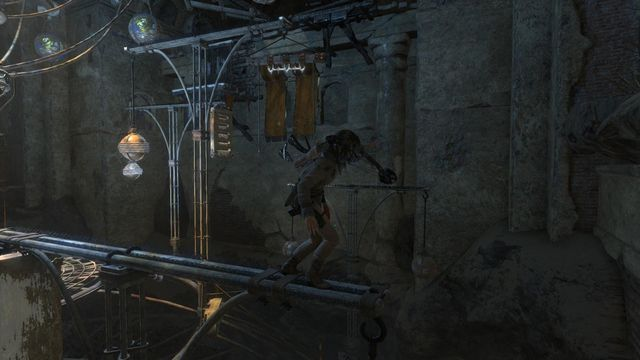tomb raider how to jump off rope
