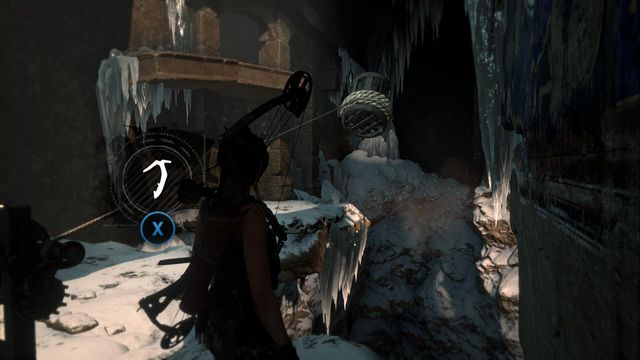 Note gusts of wind and release the weight at the right moment. - Tomb - Voice of God [4/9] | Soviet Installation - Soviet Installation - Rise of the Tomb Raider Game Guide & Walkthrough