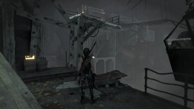 Inside the Red Mines, a bit past the camp, where you need to push down the carts using the hanging containers - Relics | Soviet Installation - Soviet Installation - Rise of the Tomb Raider Game Guide & Walkthrough