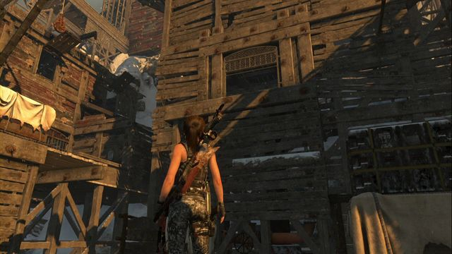 After you reach the upper part of the copper mill (near the tomb entrance), before you climb the stairs to the next building, find a passage covered with a cloth, on the right - Relics | Soviet Installation - Soviet Installation - Rise of the Tomb Raider Game Guide & Walkthrough