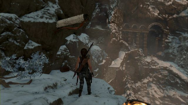 Then, use the rope arrow to get to the net ledge, where you find the relic - Relics | Soviet Installation - Soviet Installation - Rise of the Tomb Raider Game Guide & Walkthrough