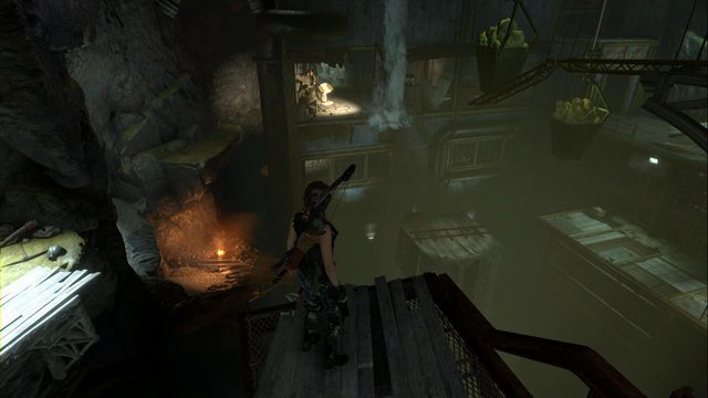 After you reach the main part of the Red Mines right after you enter, still before you reach the camp, you can jump over from the platform onto another to your left - Documents | Soviet Installation - Soviet Installation - Rise of the Tomb Raider Game Guide & Walkthrough