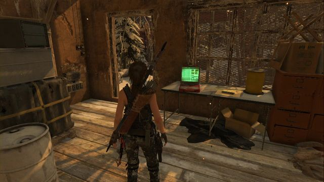 Right after you enter the building, on the desk to the left - Documents | Soviet Installation - Soviet Installation - Rise of the Tomb Raider Game Guide & Walkthrough