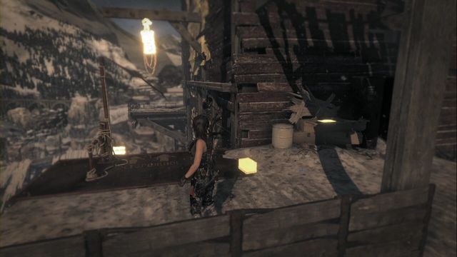 In the spot where you need to hang down from the rope and swing to jump to the other side - Documents | Soviet Installation - Soviet Installation - Rise of the Tomb Raider Game Guide & Walkthrough