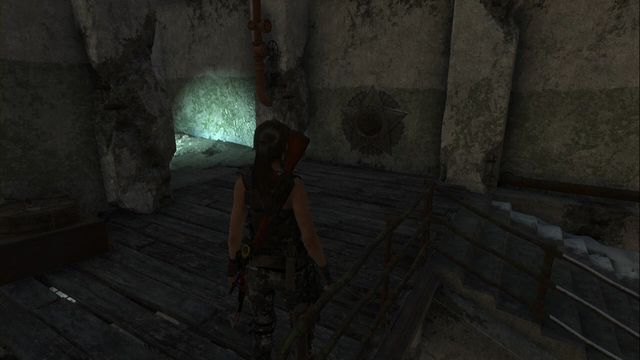Right after you climb the stairs into the building, past the small yard on the first floor - Murals | Soviet Installation - Soviet Installation - Rise of the Tomb Raider Game Guide & Walkthrough