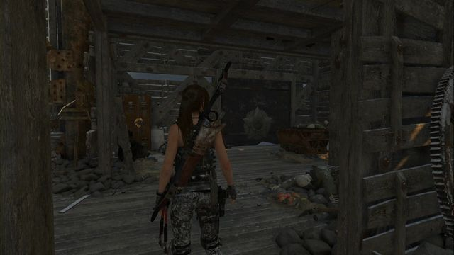 After you climb the stairs into the next building, in the upper part of the copper mill, walk around the next staircase - the mural is at the other side - Murals | Soviet Installation - Soviet Installation - Rise of the Tomb Raider Game Guide & Walkthrough